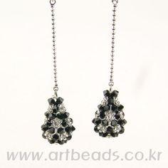 Free tutorial by diagram - droplet earrings