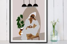 Black Girl Art, Black Women Art, African American Art, African Art, Wall Art Prints, Fine Art Prints, Laundry Art, Mid Century Wall Art, Custom Wall Murals