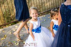 J. La Plante Photo | Denver Wedding Photography | Chatfield Botanic Gardens wedding | Flower girls with tiaras