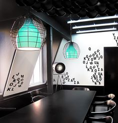 Fabricville by Electric Dreams Office Design Pictures    i like the lights...and the magnetic boards