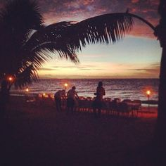Not a bad setting for dinner... #southseaisland #fiji #backpacking #sunset #beach #paradise
