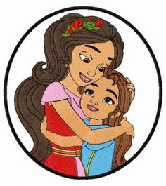 Princess Elena and Princess Isabel machine embroidery design. Machine embroidery design. www.embroideres.com
