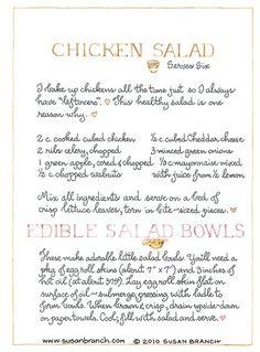 Susan Branch, Chicken Salad