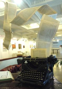 """Diagnosis  by Jena Priebe    A large installation made for the """"The Last Bookstore"""" in downtown Los Angeles."""
