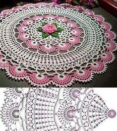 Home Decor Crochet Patterns Part 53 - Beautiful Crochet Patterns and Knitting Patterns Free Crochet Doily Patterns, Crochet Doily Diagram, Crochet Motifs, Crochet Circles, Crochet Mandala, Crochet Chart, Thread Crochet, Knitting Patterns, Crochet Dollies