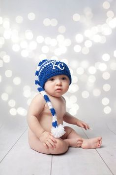 Hey, I found this really awesome Etsy listing at https://www.etsy.com/listing/213800777/crochet-long-tailed-kc-royals-elf-hat