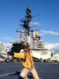 On board of USS