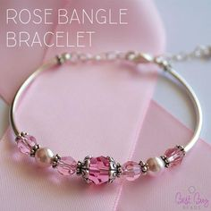 October is Breast Cancer Awareness Month. Show your support with this lovely rose bangle. 0601-19x30-blon Beadalon Bead Stringing Wire (bright) - 19 strand -