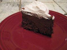Chocolate Mousse Cake with Cinnamon Cream (No Flour!)