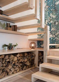 Ôde à la nature - MARION LANOE, Architecte d'intérieur et décoratrice, Lyon Staircase Storage, Casa Loft, Window Benches, Pastel House, House Stairs, Luxury Homes, Building A House, Sweet Home, New Homes