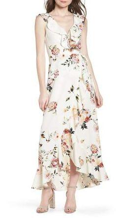 Leith Ruffle Wrap Maxi Dress #affiliate #summer #dress #summerdress