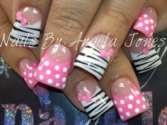 Zebra stripes with bows & poka dots