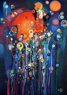 """The [central] garden of the Sorcerer"" Saatchi Online Artist: Lilla Kuizs; Collage Drawing, Painting & Drawing, Guache, Art For Art Sake, Art Graphique, Beautiful Artwork, Love Art, Amazing Art, Saatchi Art"