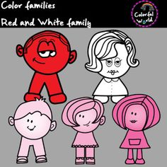 This color set includes 5 clipart, high resolution, png format. It can be used for color activities such as combination of the primaries. It is an easy and fun visual way of understanding colors' relationships with each other. Color Activities, Red And White, Clip Art, Fun, Fictional Characters, Fantasy Characters, Pictures, Hilarious