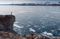 When lake Baikal becomes ice and you can ice-skate