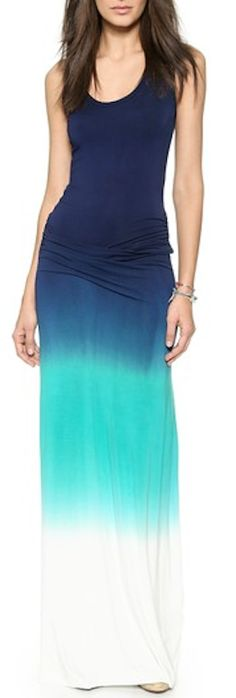 blue ombre summer maxi dress