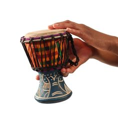 Ghanaian D'Jembe Drum: X-Small - Drums & Drum Accessories - African Music - Africa Imports