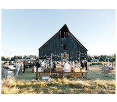 This old barn makes the coolest backdrop for a wedding in my opinion...