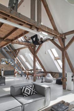 filet d\'habitation idées-aménagement-moderne-mezzanine | Design d ...