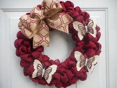 Door Wreath Rustic wreath Country wreath by ChloesCraftCloset