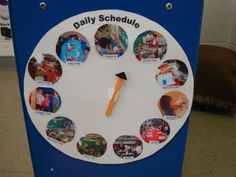 this daily schedule with labeled pictures and suggestions for using it are on this site.Supporting preschoolers with transitions.this daily schedule with labeled pictures and suggestions for using it are on this site. Preschool Schedule, Preschool Rooms, Classroom Activities, Classroom Organization, Classroom Management, Preschool Room Layout, Class Schedule, Summer Activities, Preschool Plans