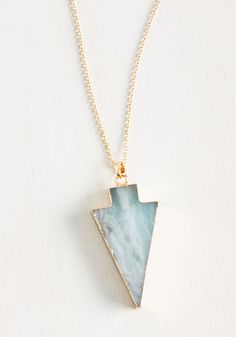 Work Accessories - A Good Arrowhead on Your Shoulders Necklace in Sage