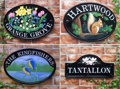 Hand Painted House Signs | House Signs & Plaques - Personalized House Names, House Numbers ...