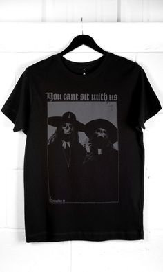 Can't Sit With Us T-Shirt #disturbiaclothing disturbia classic witch metal alien goth occult grunge alternative punk