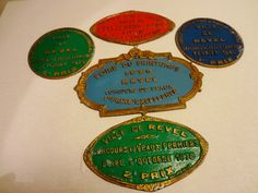 Vintage French Farmer Competition Enamel Plaques  by Decofanatique, $25.00