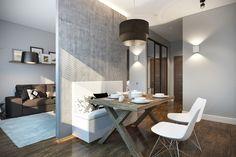 Оттенки серого - 3D-проект компактного пространства | PINWIN - конкурсы для архитекторов, дизайнеров, декораторов