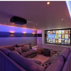 Family Cinema Room Contemporary Home Theater Interior Decor