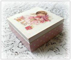 Caja madera decoupage caja chica caja de por CarmenHandCrafts