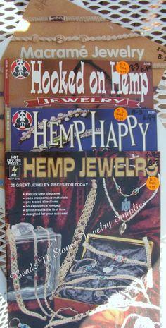 4 Book Assortment Hemp Jewelry Making  by beadznstonezsupplies, $14.00