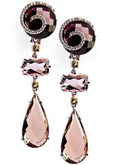 "Earrings: amethyst, smoky quartz, rhodolite, beryl, diamonds. ""The gold of Brazil,"" a collection of BRUMANI - 209 330 rubles"