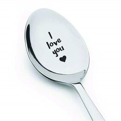I Love You Engraved Spoon | First Valentines gifts for him
