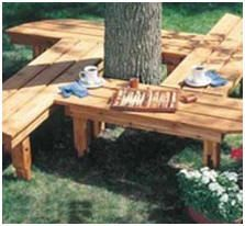 Here's a fun project for Cadettes working on their Woodworker badge - Build your own garden benches and tree benches with the help of these free, DIY project plans and building guides. Photo: HandymanClub.com