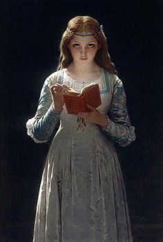 """Ophelia or A Young Lady Reading"" / Pierre-Auguste Cot (1837-1883)"