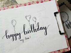 Kết quả hình ảnh cho happy birthday lettering