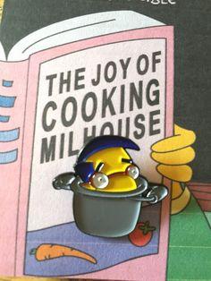 the joy of cooking Milhouse enamel pin