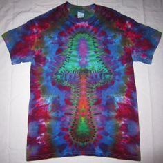 Free Shipping - Handmade Mushroom Tie Dye Shirt iUSaA