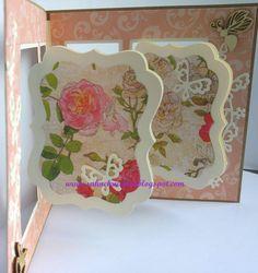 """Gift Card Holder - Card die """"Crealies"""", Designerpaper Carta Bella; Die """"Butterfly Cascade"""" Wild Rose Studio"""