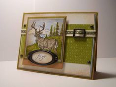 WT167 Masculine Deer by knightrone - Cards and Paper Crafts at Splitcoaststampers