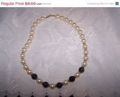 SALE 50% OFF Napier bead necklace vintage by vintagebyrudi on Etsy