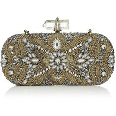Marchesa Oval Crystal Clutch ($4,780) ❤ liked on Polyvore