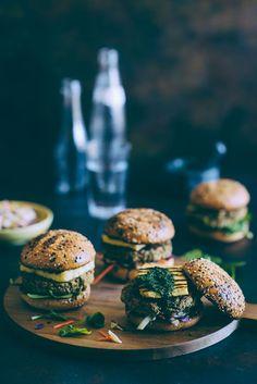 Chickpea and Quinoa Burgers with Halloumi (Souvlaki For The Soul)