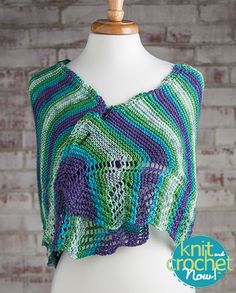 Free Easy Knit Shawl Knit Pattern Download -- Designed by KCN Design Team. Featured in Season 5, episode 505, of Knit and Crochet Now! TV. Download here: https://www.anniescatalog.com/knitandcrochetnow/patterns/detail.html?pattern_id=20