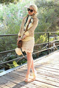 lace skirt idea