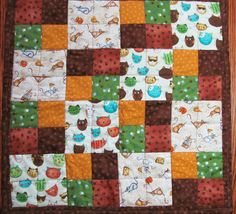 My quilt on Etsy - Kitty Quilt / Cat Quilt, Pet Quilt, (C-21) Multi Colored Smiling Cats, mice and cheese, Cotton Fabric & Non-allergenic Polyester batting via Etsy