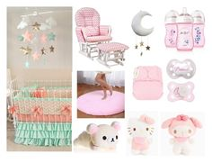 """""""My Little Nursery"""" by chaelins-little-girl ❤ liked on Polyvore featuring interior, interiors, interior design, home, home decor, interior decorating, Hello Kitty, Stork Craft, ddlg and abdl"""