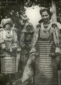 Banat Bulgarians in typical costumes, 30s of XX century